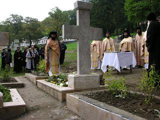 Sfințirea crucii de mormânt a părintelui Gavril Miholca…!