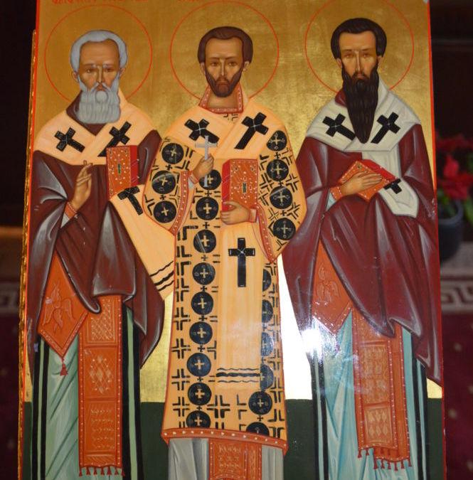 Sfintii Trei Ierarhi: Vasile cel Mare, Grigorie Teologul si Ioan Gura de Aur, Manastirea Sfanta Elisabeta, Cluj-Napoca
