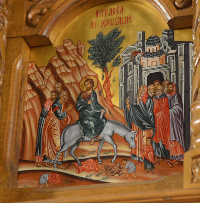 Intrarea Domnului in Ierusalim, Duminica Floriilor, Manastirea Sfintilor Apostoli Petru si Pavel, Rebra – Parva, Bistrita Nasaud