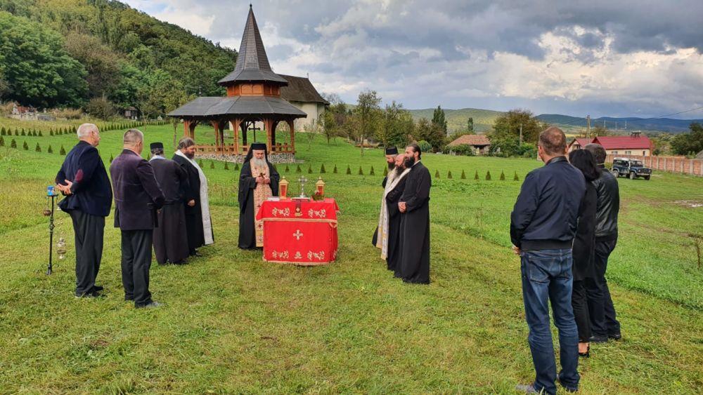 Punerea pietrei de temelie a Casei monahale, Manastirea Vad, Cluj